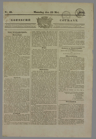 Goessche Courant 1842-05-23
