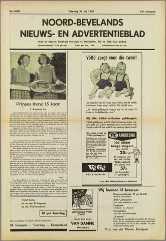 Noord-Bevelands Nieuws- en advertentieblad 1954-07-31