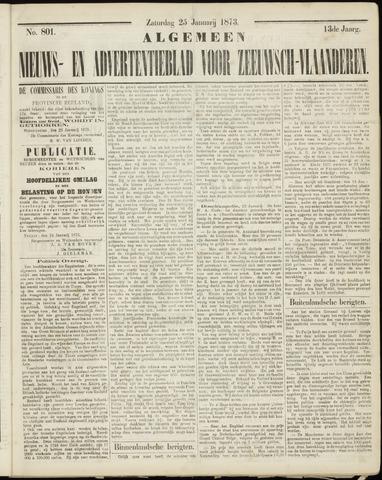 Ter Neuzensche Courant. Algemeen Nieuws- en Advertentieblad voor Zeeuwsch-Vlaanderen / Neuzensche Courant ... (idem) / (Algemeen) nieuws en advertentieblad voor Zeeuwsch-Vlaanderen 1873-01-25