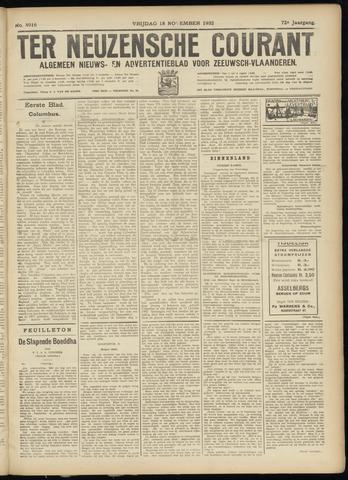 Ter Neuzensche Courant. Algemeen Nieuws- en Advertentieblad voor Zeeuwsch-Vlaanderen / Neuzensche Courant ... (idem) / (Algemeen) nieuws en advertentieblad voor Zeeuwsch-Vlaanderen 1932-11-18