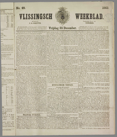Vlissings Weekblad 1863-12-25