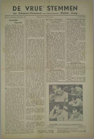 Vrije Stemmen van Schouwen-Duiveland, tevens mededeelingenblad Militair Gezag 1945-12-06