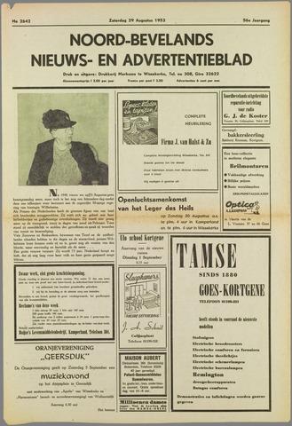 Noord-Bevelands Nieuws- en advertentieblad 1953-08-29
