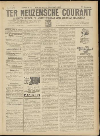 Ter Neuzensche Courant. Algemeen Nieuws- en Advertentieblad voor Zeeuwsch-Vlaanderen / Neuzensche Courant ... (idem) / (Algemeen) nieuws en advertentieblad voor Zeeuwsch-Vlaanderen 1937-02-24