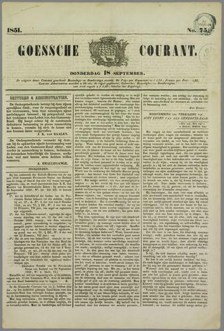 Goessche Courant 1851-09-18