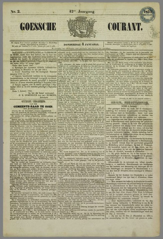 Goessche Courant 1855-01-04