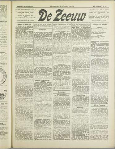 De Zeeuw. Christelijk-historisch nieuwsblad voor Zeeland 1934-08-21
