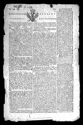 Middelburgsche Courant 1791