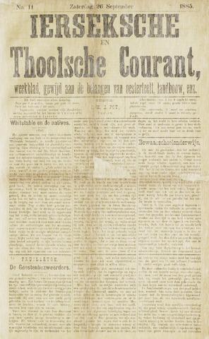 Ierseksche en Thoolsche Courant 1885-09-26