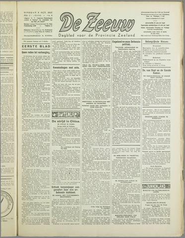 De Zeeuw. Christelijk-historisch nieuwsblad voor Zeeland 1937-10-05
