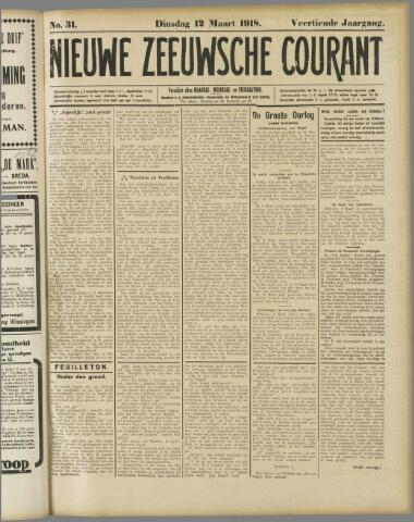 Nieuwe Zeeuwsche Courant 1918-03-12