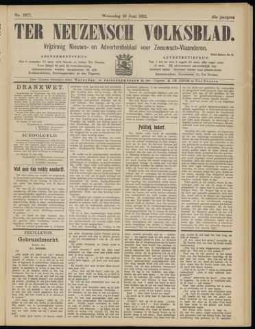 Ter Neuzensch Volksblad. Vrijzinnig nieuws- en advertentieblad voor Zeeuwsch- Vlaanderen / Zeeuwsch Nieuwsblad. Nieuws- en advertentieblad voor Zeeland 1912-06-19