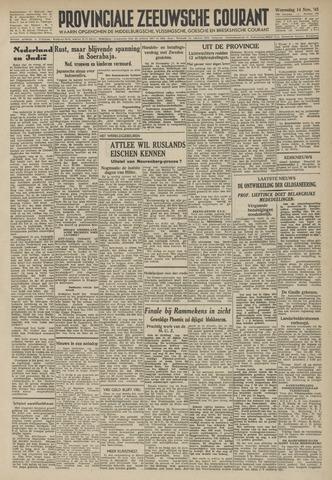 Provinciale Zeeuwse Courant 1945-11-14