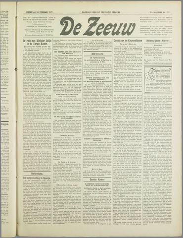 De Zeeuw. Christelijk-historisch nieuwsblad voor Zeeland 1937-02-24