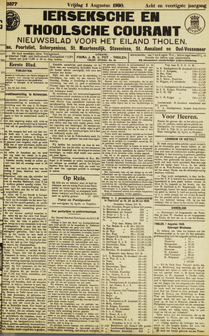 Ierseksche en Thoolsche Courant 1930-08-01