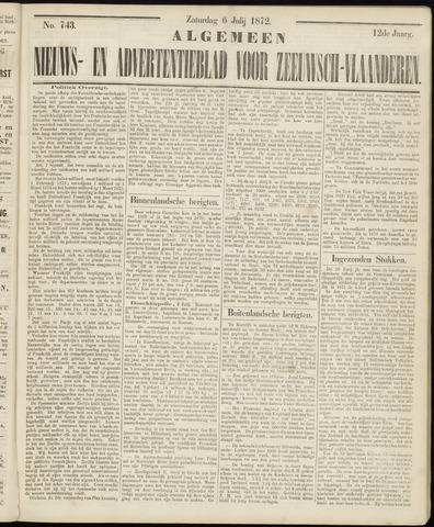 Ter Neuzensche Courant. Algemeen Nieuws- en Advertentieblad voor Zeeuwsch-Vlaanderen / Neuzensche Courant ... (idem) / (Algemeen) nieuws en advertentieblad voor Zeeuwsch-Vlaanderen 1872-07-06