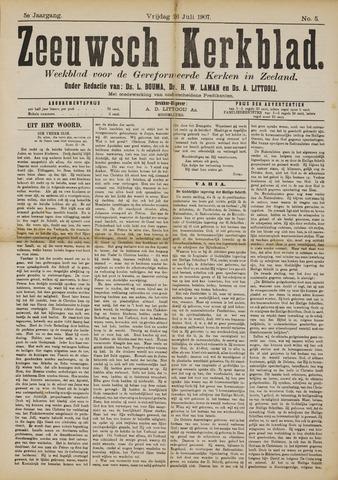 Zeeuwsche kerkbode, weekblad gewijd aan de belangen der gereformeerde kerken/ Zeeuwsch kerkblad 1907-07-26