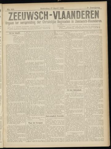 Luctor et Emergo. Antirevolutionair nieuws- en advertentieblad voor Zeeland / Zeeuwsch-Vlaanderen. Orgaan ter verspreiding van de christelijke beginselen in Zeeuwsch-Vlaanderen 1920-04-17
