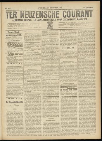 Ter Neuzensche Courant. Algemeen Nieuws- en Advertentieblad voor Zeeuwsch-Vlaanderen / Neuzensche Courant ... (idem) / (Algemeen) nieuws en advertentieblad voor Zeeuwsch-Vlaanderen 1932-10-05
