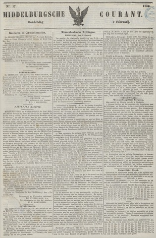 Middelburgsche Courant 1850-02-07