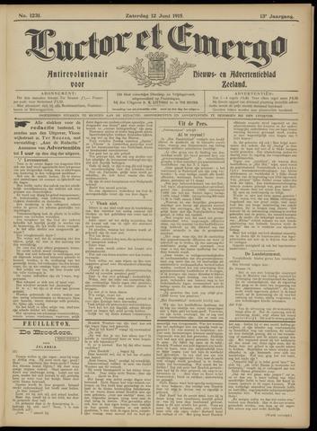 Luctor et Emergo. Antirevolutionair nieuws- en advertentieblad voor Zeeland / Zeeuwsch-Vlaanderen. Orgaan ter verspreiding van de christelijke beginselen in Zeeuwsch-Vlaanderen 1915-06-12