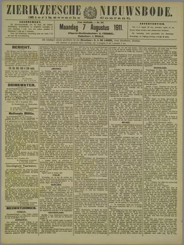 Zierikzeesche Nieuwsbode 1911-08-07
