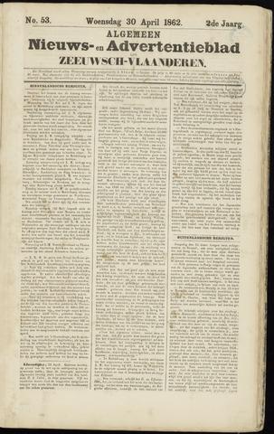 Ter Neuzensche Courant. Algemeen Nieuws- en Advertentieblad voor Zeeuwsch-Vlaanderen / Neuzensche Courant ... (idem) / (Algemeen) nieuws en advertentieblad voor Zeeuwsch-Vlaanderen 1862-04-30