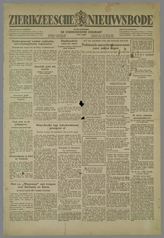 Zierikzeesche Nieuwsbode 1953