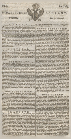 Middelburgsche Courant 1769