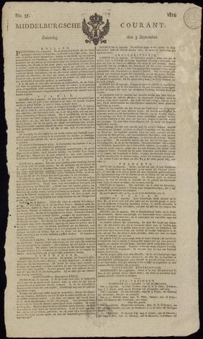 Middelburgsche Courant 1814-09-03