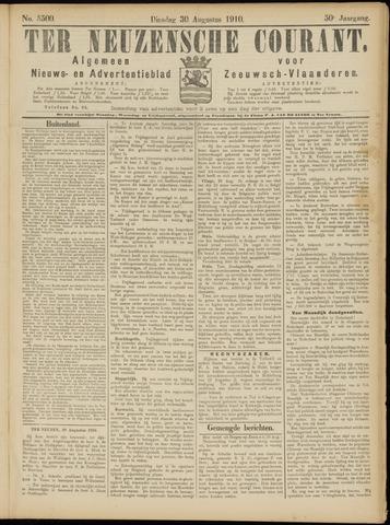 Ter Neuzensche Courant. Algemeen Nieuws- en Advertentieblad voor Zeeuwsch-Vlaanderen / Neuzensche Courant ... (idem) / (Algemeen) nieuws en advertentieblad voor Zeeuwsch-Vlaanderen 1910-08-30