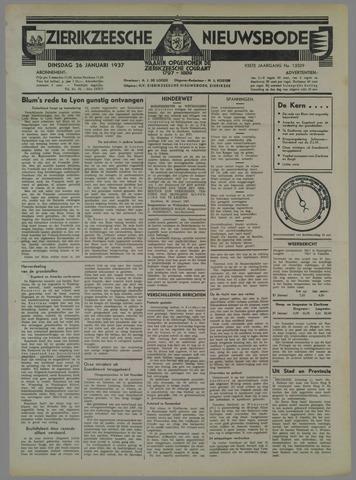 Zierikzeesche Nieuwsbode 1937-01-26