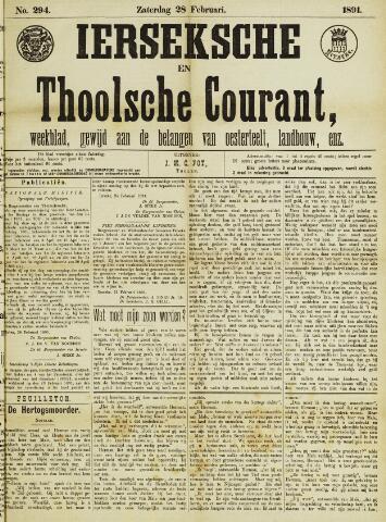 Ierseksche en Thoolsche Courant 1891-02-28