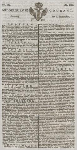 Middelburgsche Courant 1777-11-08