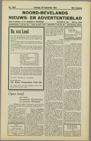 Noord-Bevelands Nieuws- en advertentieblad 1952-09-20