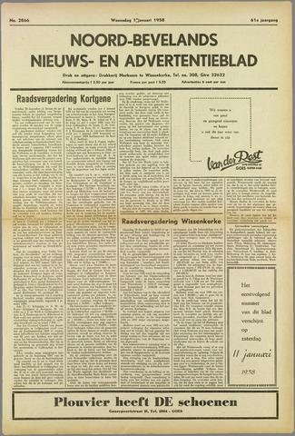 Noord-Bevelands Nieuws- en advertentieblad 1958