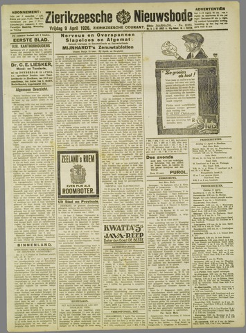 Zierikzeesche Nieuwsbode 1926-04-09