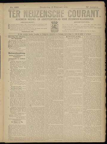 Ter Neuzensche Courant. Algemeen Nieuws- en Advertentieblad voor Zeeuwsch-Vlaanderen / Neuzensche Courant ... (idem) / (Algemeen) nieuws en advertentieblad voor Zeeuwsch-Vlaanderen 1919-02-13