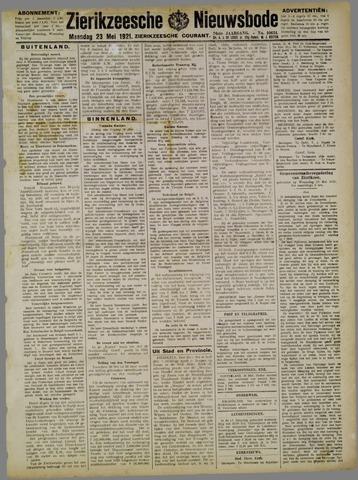 Zierikzeesche Nieuwsbode 1921-05-23