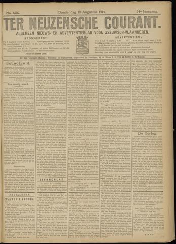 Ter Neuzensche Courant. Algemeen Nieuws- en Advertentieblad voor Zeeuwsch-Vlaanderen / Neuzensche Courant ... (idem) / (Algemeen) nieuws en advertentieblad voor Zeeuwsch-Vlaanderen 1914-08-13
