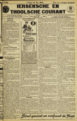 Ierseksche en Thoolsche Courant 1926-05-21