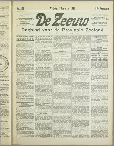 De Zeeuw. Christelijk-historisch nieuwsblad voor Zeeland 1929-08-02