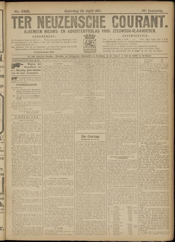 Ter Neuzensche Courant. Algemeen Nieuws- en Advertentieblad voor Zeeuwsch-Vlaanderen / Neuzensche Courant ... (idem) / (Algemeen) nieuws en advertentieblad voor Zeeuwsch-Vlaanderen 1916-04-22