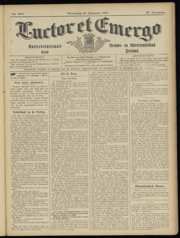 Luctor et Emergo. Antirevolutionair nieuws- en advertentieblad voor Zeeland / Zeeuwsch-Vlaanderen. Orgaan ter verspreiding van de christelijke beginselen in Zeeuwsch-Vlaanderen 1914-08-12