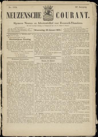 Ter Neuzensche Courant. Algemeen Nieuws- en Advertentieblad voor Zeeuwsch-Vlaanderen / Neuzensche Courant ... (idem) / (Algemeen) nieuws en advertentieblad voor Zeeuwsch-Vlaanderen 1876-01-26