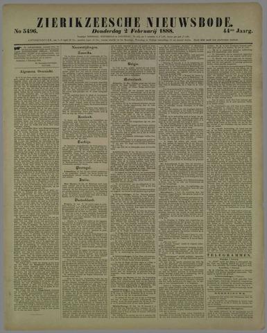Zierikzeesche Nieuwsbode 1888-02-02