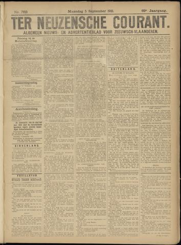Ter Neuzensche Courant. Algemeen Nieuws- en Advertentieblad voor Zeeuwsch-Vlaanderen / Neuzensche Courant ... (idem) / (Algemeen) nieuws en advertentieblad voor Zeeuwsch-Vlaanderen 1921-09-05