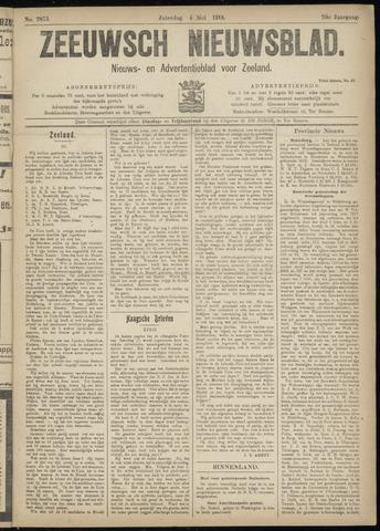 Ter Neuzensch Volksblad. Vrijzinnig nieuws- en advertentieblad voor Zeeuwsch- Vlaanderen / Zeeuwsch Nieuwsblad. Nieuws- en advertentieblad voor Zeeland 1918-05-04