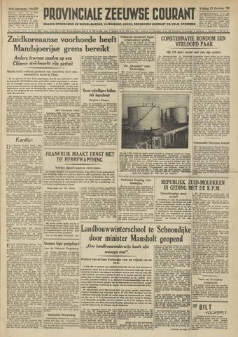 Provinciale Zeeuwse Courant 1950-10-27