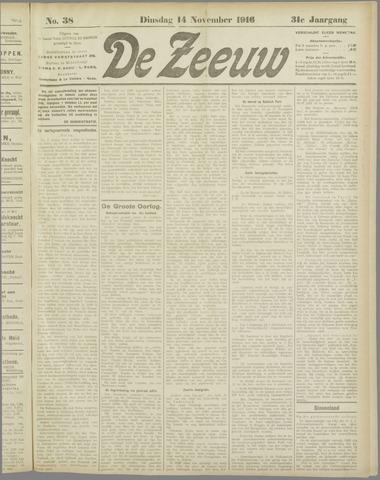 De Zeeuw. Christelijk-historisch nieuwsblad voor Zeeland 1916-11-14